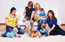 Mothers look at their babies Royalty Free Stock Images