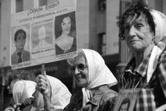 The Mothers of the Plaza de Mayo Royalty Free Stock Photos