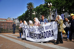 The Mothers of the Plaza de Mayo Royalty Free Stock Photo