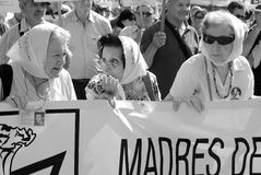 Mothers of the Plaza de Mayo Royalty Free Stock Image