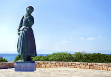 mothers statue in Aegina Greece Stock Photos