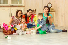 Mothers with their kids Royalty Free Stock Images