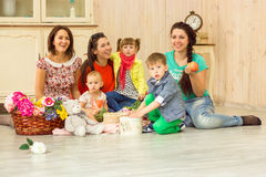 Mothers with their kids Royalty Free Stock Photography
