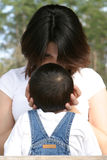 Mothers touch. Mother and son stock photography