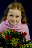 Mothersday. Girl with flowers for mothersday royalty free stock photos