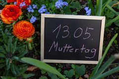mothersday flowers and board stock photos