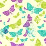Moths. seamless pattern Stock Photo