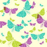 Moths. seamless pattern stock illustration