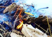 Moti del fuoco Fotografia Stock Libera da Diritti