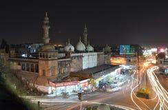 Moti masjid eller moské, Bhopal Royaltyfri Bild
