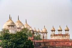 Moti Masjid lub Perełkowy meczet w Agra forcie, India Zdjęcia Royalty Free