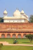 Moti Masjid perły meczet w Agra forcie, Uttar Pradesh, India Zdjęcie Royalty Free