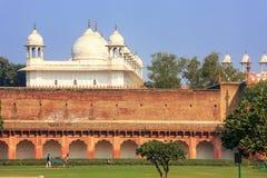 Moti Masjid perły meczet w Agra forcie, Uttar Pradesh, India Obraz Stock