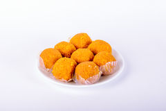 Motichoor Laddoo (Indian Sweet) stock images