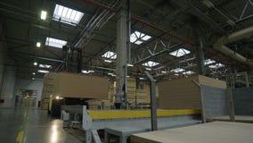 Motie over Installatieworkshop aan Moderne Productielijn stock footage