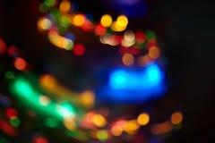 Motie vage Kerstmislichten Royalty-vrije Stock Afbeeldingen