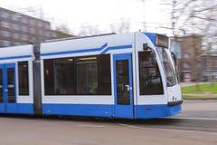 Motie vage tram - openbaar vervoer Royalty-vrije Stock Foto