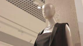 Motie van Ledenpop in Zwarte Kleding aan Plafond met Soffits stock footage
