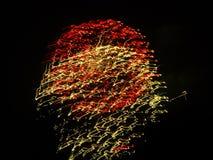 Motie van Vuurwerk Stock Foto