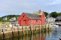 Motief Nummer 1, Rockport, Massachusetts Stock Afbeeldingen