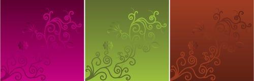 Motief op drie kleurenachtergronden Royalty-vrije Illustratie
