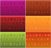 Motief op drie kleurenachtergronden Stock Illustratie
