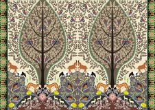 Motief van het batik het bosleven Royalty-vrije Stock Foto's