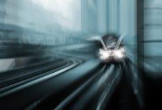 Motieonduidelijk beeld van hoge snelheidstrein Royalty-vrije Stock Foto
