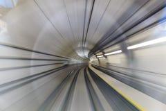 Motieonduidelijk beeld van tunnel Stock Afbeelding