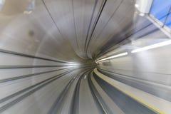 Motieonduidelijk beeld van tunnel Stock Foto