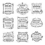 Motieven en inspirational geplaatste citaten