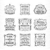 Motieven en inspirational geplaatste citaten Royalty-vrije Stock Afbeelding