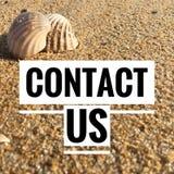 Motievencitaten van contact ons stock foto's