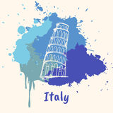 Motif émotif italien avec les attractions historiques Images libres de droits