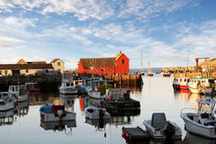 Motif #1 Rockport MA. Famous red barn in Rockport Harbor Massachusetts Stock Photos
