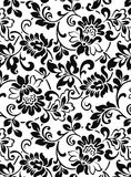 Motif. Foral motif face on white background stock photos
