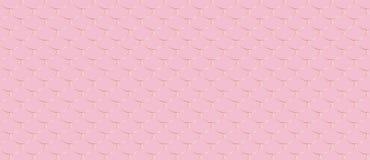 Motif d'échelle de poissons modèle d'or sur le fond rose illustration de vecteur