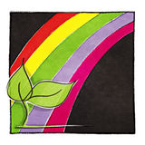 Motif d'arc-en-ciel, fond painterly artistique illustration stock