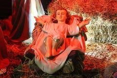 Motif de pré-vacances de Noël de la décoration au centre de la ville de Petrich, Bulgarie Photo stock