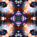 Motif de variété de kaléidoscope de batik Images libres de droits