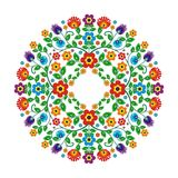 Motif ethnique mexicain avec le modèle floral de style de cercle illustration de vecteur