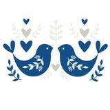 Motif folklorique avec des oiseaux illustration de vecteur