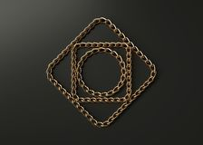 Golden chains motif royalty free stock images