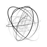 Motif géométrique circulaire Élément abstrait d'op-art de gamme de gris illustration de vecteur