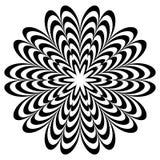 Motif géométrique circulaire, mandala abstrait, forme géométrique photos libres de droits