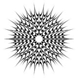 Motif géométrique circulaire, mandala abstrait, forme géométrique image stock