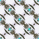 Motif géométrique de kaléidoscope de batik Image stock