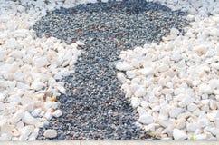 Motif keyhole of pebbles Stock Photo