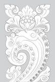 Motif Majapahit line art. Majapahit ornament is the oldest motif, a combination of Padjajaran and Mataram motifs, consisting of a combination of round / convex Royalty Free Stock Photos