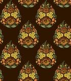 Motif mughal indien sans couture de fleur illustration libre de droits